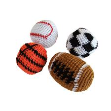 "Knitted Sports Ball Kick Balls, Assorted, 2"" - 3"", 12/Pkg"