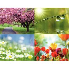 Seasonal Scenes 4-Up Laser Postcard Assortment Packs, 100/Pkg