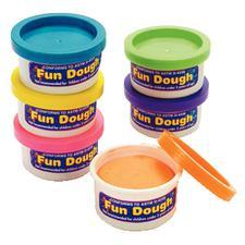 "Fun Dough Tubs, Assorted Colors, 2"", 36/Pkg"