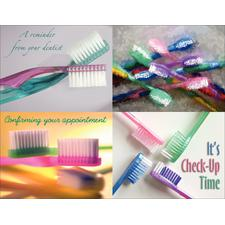 "Toothbrushes Postcard Assortment Pack, 4-1/4""  x 5-1/2"" , 100/Pkg"