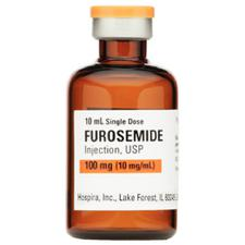 Furosemide – Injection, 10 mg/mL Strength, 10 mL, 25/Pkg, NDC 00409-6102-10