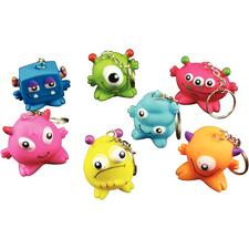 Monster Keychains, Assorted, 1-1/2