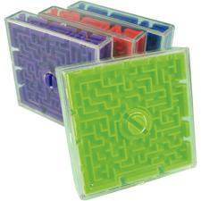 2-Sided Maze Game, Assorted Colors, 2-1/2