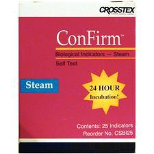 Système ConFirm® 24 professionnel de surveillance biologique – Indicateurs de vapeur, 25/boîte