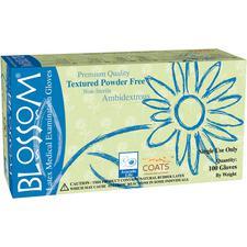 Blossom® Latex Exam Gloves with C.O.A.T.S.™ – Powder Free, 100/Pkg