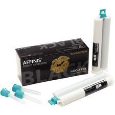 Matériau d'empreinte Affinis® Black Edition – Viscosité élevée, 2cartouches (75ml), 8embouts mélangeurs
