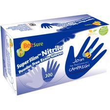 BeeSure® SuperSlim™ Nitrile Exam Gloves – Powder Free, 300/Pkg
