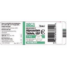 Alprazolam Tablet – 100/Pkg