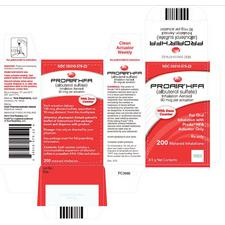 Albuterol ProAir Inhalant – 90 mcg Strength, 1/Pkg, NDC 59310-0579-22