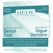 Digue dentaire en latex de caoutchouc naturel Hedy®