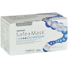 Masque opératoire à bande auriculaire Safe+Mask® Guardian® – ASTM niveau 1, blanc, antimicrobien, 40/emballage