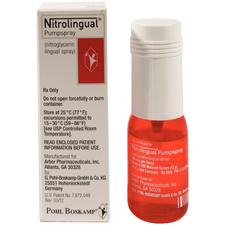 Nitrolingual® Nitrate Nitroglycerin – Spray, 0.4 mg Strength, 12 g Volume, 1/Pkg, NDC 24338-0300-20