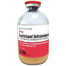 Dantrium® IV, Dantrolene Sodium – Intravenous Injection, 20 mg/ml Strength, 70ml, 6/Pkg, NDC 42023-0123-06