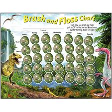 "Brush and Floss Charts, 8-1/2"" W x 11"" H, 100/Pkg"