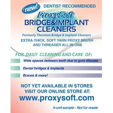 Bridge & Implant Cleaners Trial Packs, 100/Pkg