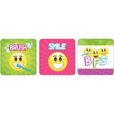 "Dental Licensed Stickers, 2-1/2"" W x 2-1/2"" H, Six Designs/Roll, 100/Roll"