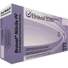 Braval® Nitrile PF Exam Gloves – Latex Free, Powder Free, Lavender Blue, 300/Pkg