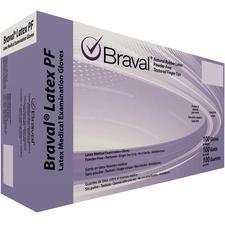 Braval® Latex PF Exam Gloves – Powder Free, White