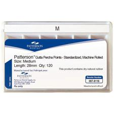 Patterson® Gutta Percha Points – Auxiliary Sizes