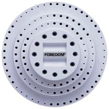 Large Rotating Bur Holder – 69 Holes, Light Blue