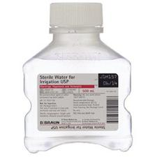 Sterile Water for Irrigation, not for Injection, USP – Bottle, 500 ml, NDC 00264-2101-10