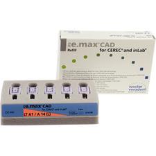 Blocs IPS e.max® CAD TF (translucidité faible)- A14, 5/emballage