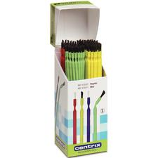 Benda® Brush Disposable Applicator – Regular, Assorted Colors with Black Bristles, 144/Pkg