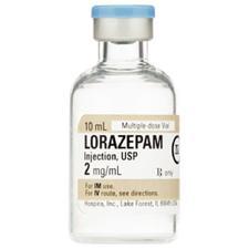 Lorazepam Injection – 2 mg/ml Strength, 10 ml, 10/Pkg, NDC 00409-6780-02, Schedule 4