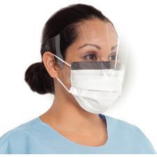 Fog-Free Procedure Face Masks with Wrap Around Visor – 25/Pkg