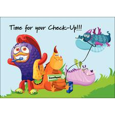 Dental Monsters Postcards, 100/Pkg