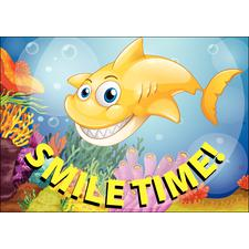 Dental 4-Up Shark TIme Postcards, /100 Pkg