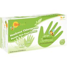 BeeSure® NeoGrene™ Chloroprene Powder-Free Exam Gloves – 200/Pkg