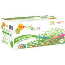 BeeSure® Vibe Earloop Face Masks – 50/Pkg