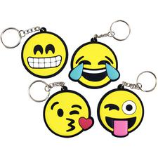 Emoticon Keychains, Assorted, 2-1/2