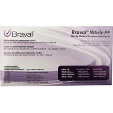 Braval® Nitrile PF Exam Gloves, Sample