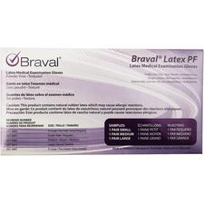 Braval® Latex PF Exam Gloves, Sample