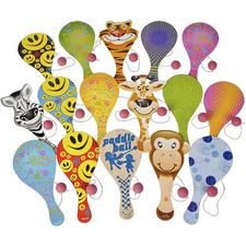 "Paddleball Assortment, 9"", 50/Pkg"