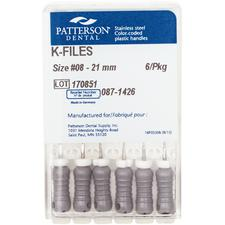 Patterson® K-Files – 21 mm Length, 6/Pkg