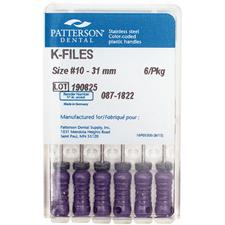Patterson® K-Files – 31 mm Length, 6/Pkg