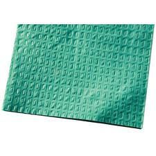 "Patient Bib – 2 Ply, Poly Backed, 13"" x 18"", Teal, 500/Pkg"