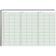 "Jumbo Week-in-View Appointment Book, 10-min. Intervals, 17"" x 11"""