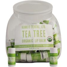 Organic Lip Balm Fishbowl – Tea Tree Mint, 100/Pkg
