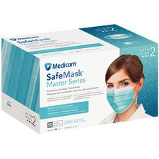 Safe+Mask® Master Series Earloop Masks, 50/Box