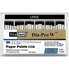 Dia-PRO Type Paper Points – 0.04 Taper, 100/Pkg