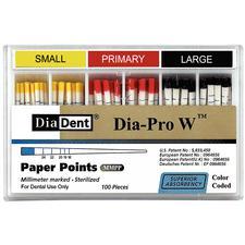 Dia-Pro W Paper Points – 100/Pkg