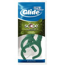 Glide® Plus Scope® Floss Picks, 72 (3 Flosser) Packages