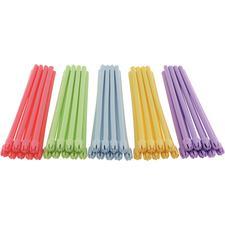 BeeSure® Saliva Ejectors - Rainbow, 500/Pkg