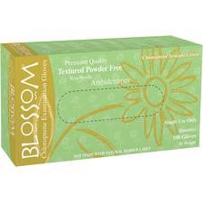 Blossom® Chloroprene Exam Gloves - Powder Free, Avocado Green