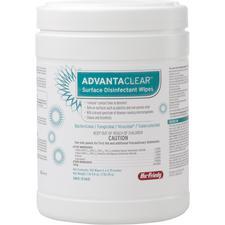 Contenant de lingettes pour la désinfection superficielle AdvantaClear™, 160 lingettes/contenant