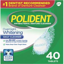 Polident® Overnight Whitening – 40 Tablets/Box, 12 Box/Pkg